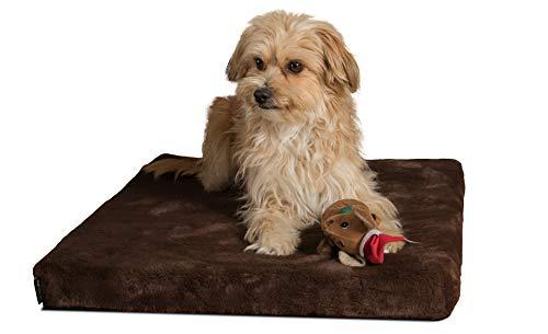 TrendPet VitaMedog - Viskoelastische Matratze Hundebett für Hunde braun (75x55cm)