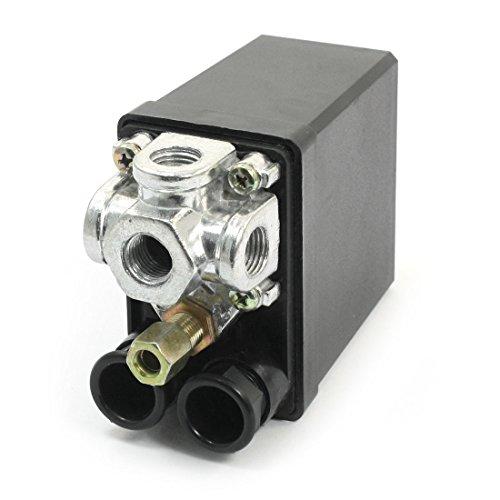 Sourcingmap - Pressostato Aria Compressore Controllo Valvola 175 Psi 4 Vie 1/4Pt Catena