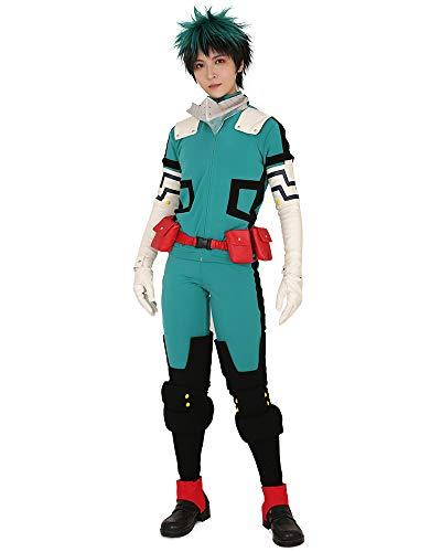 miccostumes Men's Midoriya Izuku Deku Cosplay Costume Fighting Suit (XS) Teal