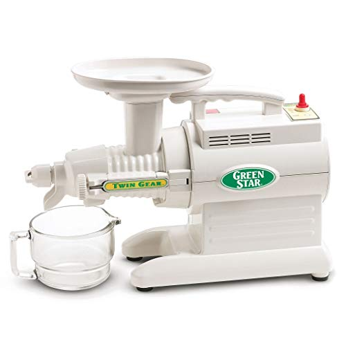 Tribest GS-1000 Greenstar Original Twin Gear Cold Press Masticating Juice Extractor, White