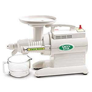 Tribest GS-1000 Greenstar Original Twin Gear Cold Press Masticating Juice Extractor, White |
