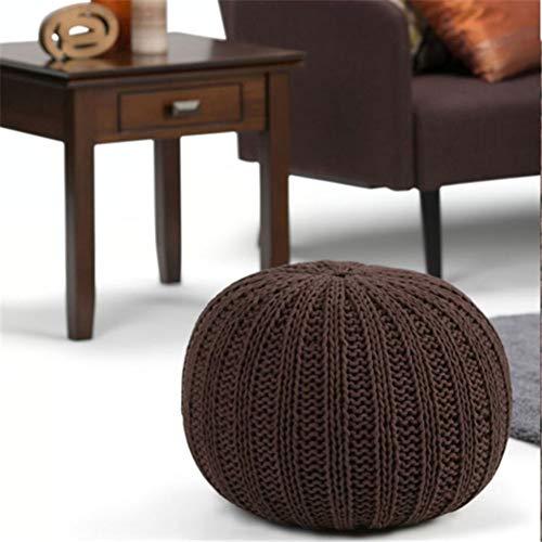 XER Marroquí Grande Puffe Pouffe Footstool Chunky Hand Pouf Pouf Pie Taburete Taburete de Estar Moderno Asiento de cojín por Confort Colecciones