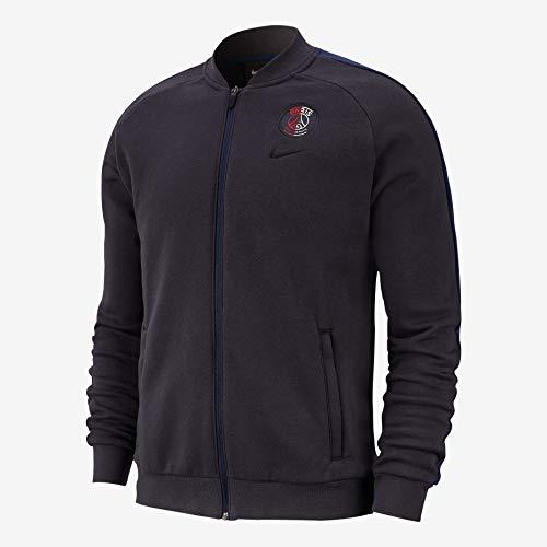 Nike Herren PSG M Nk Gfa FLC TRK JKT Weste, Ölgrau/Obsidian/Ölgrau, S