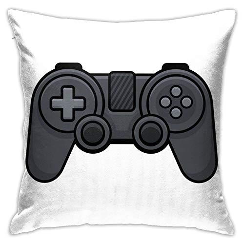 MZZhuBao Mando de videojuegos sobre fondo blanco Gamepad funda de almohada decorativa para el hogar para hombres/mujeres sala de estar, dormitorio, sofá silla