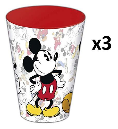 Disney Mickey Mouse beker, kunststof, 430 ml, 3 stuks