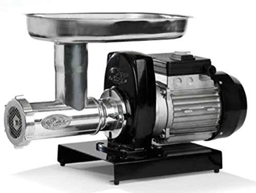 Pavi Getriebemotor mit Fleischwolf Carter Aluminium Druckguss lackiert für Lebensmittel. Ring Body und Transporter A Schraube in Gusseisen Weißblech. Trichter und Messer aus Edelstahl.