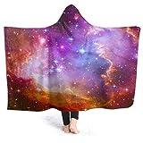SUGARHE Manta con Capucha,Una Hermosa Nebulosa Espacial Estelar,Suave Siesta ponible Mantas de Viaje/Vacaciones/Casual 60x50