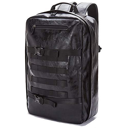仕事とビジネスハンドバッグ、旅行、マルチポケット盗難防止バッグ、大げさな容量の多様な種類のための調節可能なショルダーストラップ、レインコート、15インチレザーラップバッグ、メンズレトロリュック バッグ