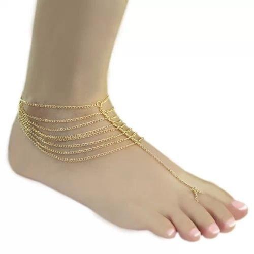5starwarehouse® gouden teen enkelband armband ketting kwast Boho Boheemse sieraden cadeau voor haar A206