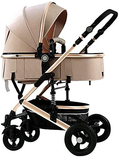 Cochecitos de peso ligero de alta vista para niños pequeños, cochecitos y cochecitos para niños y cochecitos para bebés, niños y niñas, cochecito de viaje con cochecito de lluvia y cochecitos ventilad