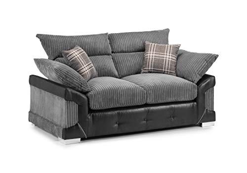 Honeypot - Logan - 3 Seater - 2 Seater - Corner Sofa - Black - Jumbo cord (2 Seater)
