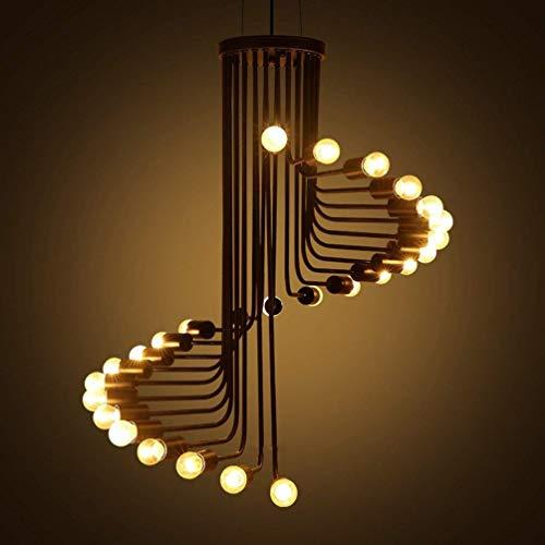 Práctica Simplicidad Familiar 26 Luces Vintage Lámpara de Araña Industrial Decoración de Arte Luz de Techo Accesorio Colgante Iluminación Colgante Hierro Metal Acabado Negro para Comedor Sala de Esta