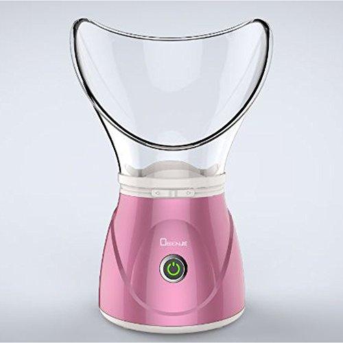 Vaporizzatore facciale professionale inalatore a vapore viso viso pelle idratante maschera viso sauna spa vapore vapore con funzione umidificatore diffusore aromaterapia (vapore viso, rosa)