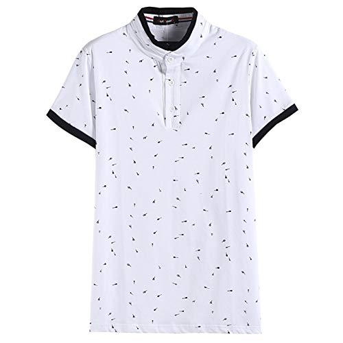 SSBZYES Polos De Hombre Camisetas De Cuello Alto para Hombre Camisetas De Verano De Manga Corta para Hombre Polos De Manga Corta Estampada Camiseta De Algodón