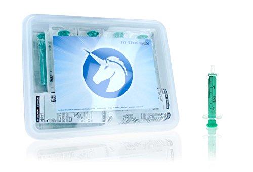 Horn Medical Einmalspritzen Set ohne Kanülen, Hochwertige Marken-Spritzen, einzeln steril verpackt in der praktischen Horn-Box (25 x 2 ml)