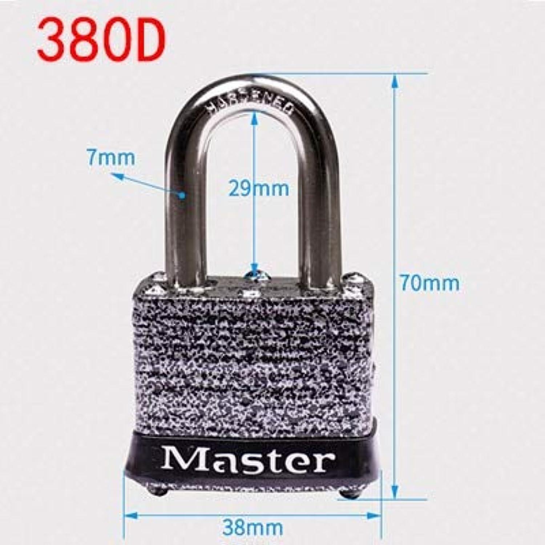 Master Lock Wide Laminated Steel Warded Padlock AntiTheft,Waterproof,No Gallbladder Layer Home Padlock Dormitory Outdoor Lock  (color  380D)