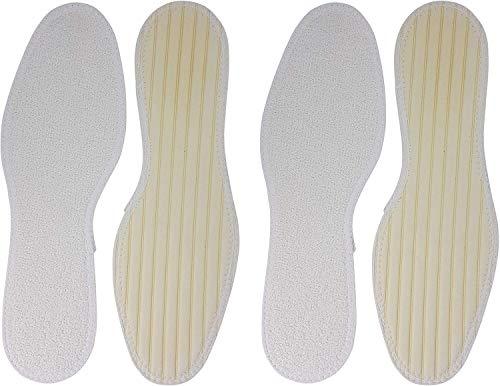 Green Feet 2 Paar Frotteesohlen für den Sommer, Barfuß Sohlen aus Frottee, Einlegesohle gegen Schweißfüße, Größe 42