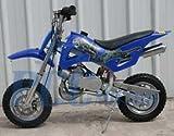 49cc 50cc Blue 2-Stroke Gas Motorized Mini Dirt Pit Bike