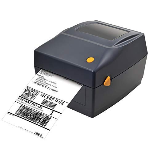 Thermo-Etiketten-Drucaker, Desktop Thermo-Barcode-Etikettendrucker, hohe Geschwindigkeit, Breite verstellbar für Versand, 4x6 Druck, kompatibel mit Windows&Mac