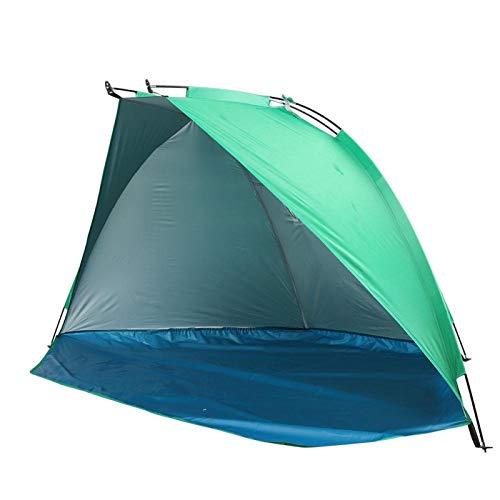 Carpa de playa para 1-3 personas Carpa de playa portátil con dosel Sombrilla con varilla de fibra de vidrio de 7 mm Protección solar UV Refugios solares impermeables para acampar, pescar, hacer picnic