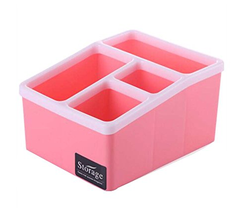 Dragon Troops Lovely Desktop Storage Box pour Cosmétique/Papeterie, Rose