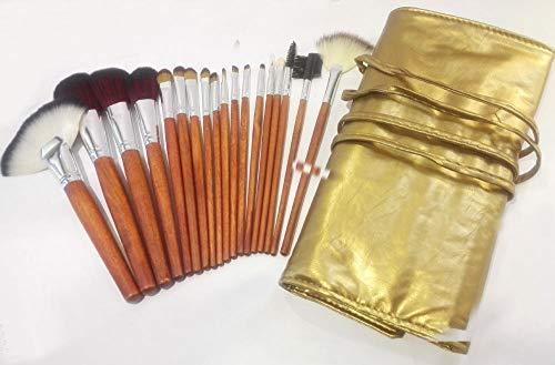 Maquillage Brush Set,Ensemble complet de 18 pièces de pinceau de maquillage multifonctionnel correcteur d'ombre à paupières Fondation pinceau de maquillage