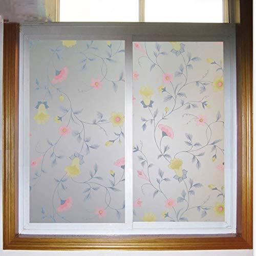 Etiqueta engomada del Vidrio de la película de la Ventana de la Gloria de la mañana película de la decoración del hogar del baño del balcón Opaco Esmerilado Autoadhesivo antiestático B 60x200cm