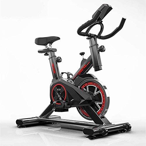 Lloow Ultra-silencioso Manta Bicicleta de Spinning con bajo Nivel de Ruido del Sistema de transmisión de la frecuencia cardíaca y la Correa LCD Monitor de Carga de 150 kg Bicicletas de Ejercicios