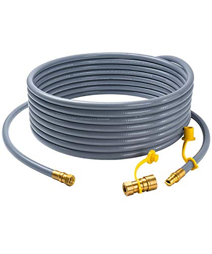 GASPRO 24 Natural Gas Hose with 3/8 Male Flare Quick Connect/Disconnect for BBQ Gas Grill-Fits Low Pressure Appliance-CSA