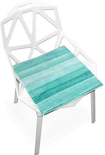 Cojín para silla al aire libre colorido retro lindo arte pintura suave antideslizante espuma memoria cojines asiento para hogar cocina oficina escritorio 38 x 35 cm meditación asiento cojín