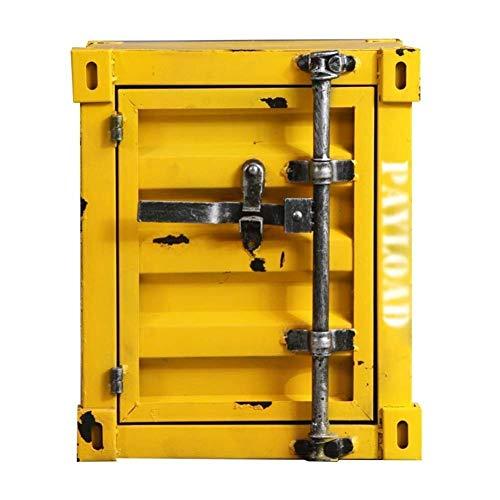 Cajas de seguridad para el hogar 40x38x48cm Pequeño Mediano Compacto Caja fuerte viento Boxindustry Hierro forjado Mesilla de noche con la cerradura del gabinete pequeña pequeña Gabinete de almacenami