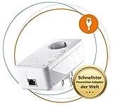 devolo Magic 2 LAN: Perfekt für Home Office & Streaming, Leistungsfähiger Powerline-Erweiterungs Adapter mit 2400 Mbit/s für Heimnetzwerk, 1 Gigabit LAN-Anschluss