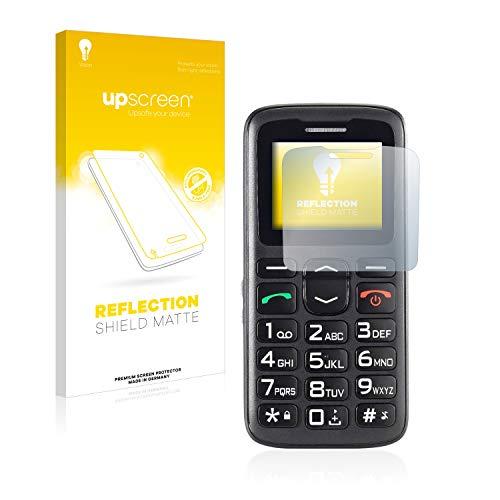 upscreen Entspiegelungs-Schutzfolie kompatibel mit Simvalley Mobile XL-915 V3 – Anti-Reflex Bildschirmschutz-Folie Matt