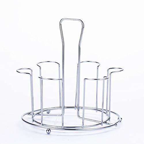 Yuzhijie Porta bicchieri d'arte in Ferro Porta Porta Tazza a goccia Tazza contenitore di tè contenitore contenitore contenitore d'acqua a Testa in giù appendente mensola appendente