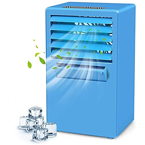 MERCB Evaporative Coolers Desktop Air Conditioning Fan - Quiet Personal Mini Fan Air Cooler for Refrigeration & Humidification & Fresh Air