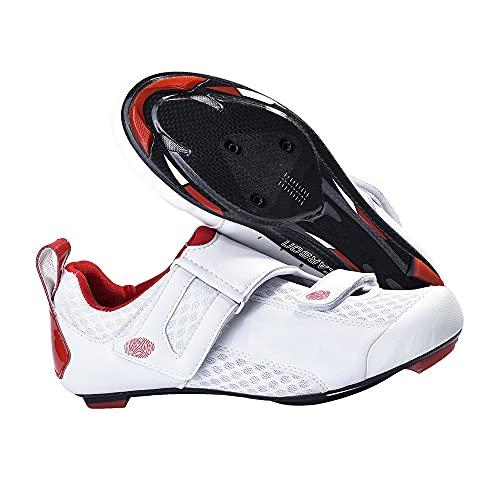 JMAR Zapatillas De Ciclismo, Zapatillas De Ciclismo De Fibra De Carbono Antideslizantes, Ligeras Y Resistentes, Suelas De Zapatos - Zapatillas De Ciclismo De Carretera para Hombre 39-45
