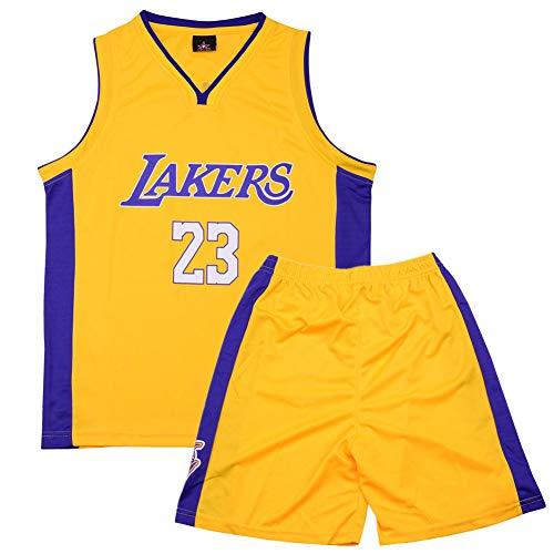 Formesy Bambini Ragazzi Ragazze Uomo Adulto NBA Lebron James #23 LBJ LA Lakers Retro Pantaloncino e Maglia Basketball Jersey Basket Maglie Uniforme To