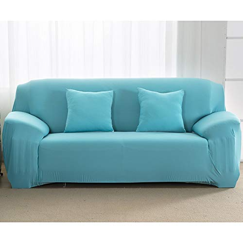 WXQY Fundas elásticas de Color sólido Funda de sofá Antideslizante elástica Funda de sofá para Mascotas Esquina en Forma de L Funda de sofá Antideslizante A7 3 plazas
