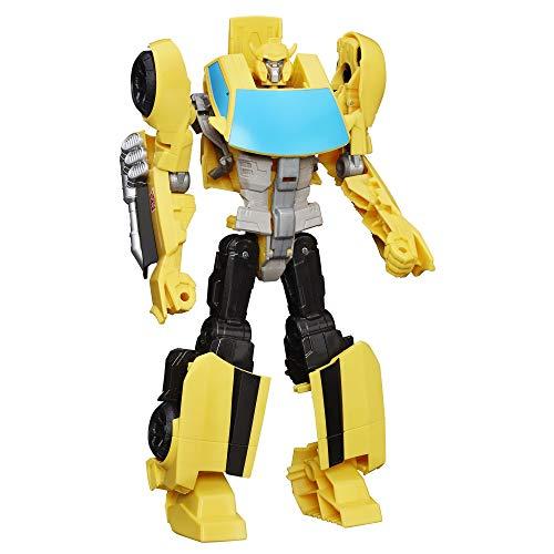 Transformers Bumblebee Action-Figur – zeitlose Figur in großem Format, verwandelt sich in ein gelbes Auto – Spielzeug für Kinder ab 6 Jahren, 28 cm