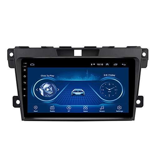 PLOKM Android Autoradio Radio Coche Bluetooth WiFi USB con Unidad Principal y Marco 9 Pulgadas 1080p Radio para Mazda Cx-7 2008-2015 Soporta Mandos de Volante