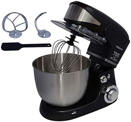 Handrührer Mixer Elektro-Standmixer 5 Liter Rührschüssel 1000W 6 Geschwindigkeitseinstellungen for Küchen-Backen-Kuchen Mini-Ei Sahne Speisen Beater