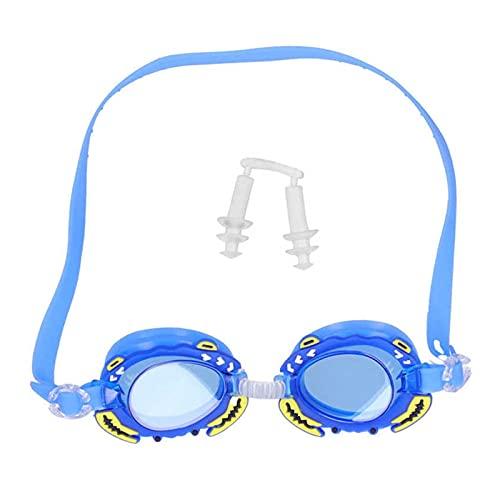 CHENGCHAO Occhialini Simpatico Occhiali da Nuoto Occhiali da Nuoto per Bambini Occhiali da Nuoto Regolabili Occhiali Cartoni Animati Ragazzo Ragazza Anti  Nebbia Occhiali Granchio Nuoto Proteggere