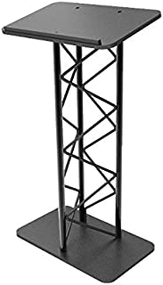 FixtureDisplays Truss Metal and Wood Podium Pulpit Lectern Church School Restaurant Reception with Cup Holder 11566