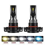WanLiTong 2pcs LED 12V 24V Lámpara auto niebla luces bombilla H8 H11 H16 9006 HB4 H10 9145 PSX24W 2504 9005 HB3 P13W PSX26W Para los accesorios del coche. ( Emitting Color : 6500K , Socket Type : H4 )