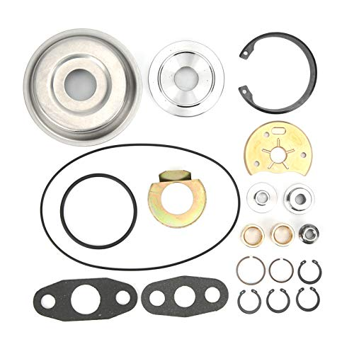 1 juego de kit de reparación de turbo (20 piezas), accesorios de kit de reconstrucción de reparación de turbocompresor aptos para turbos diésel de camión Ram 4BT 4BTA 5.9L