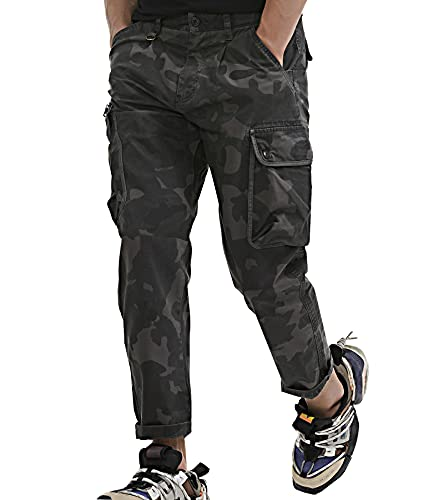 AUYUG Pantalones Camuflaje Hombres Laboral Militares Pantalon De Trabajo Pantalón Cargo Hombre