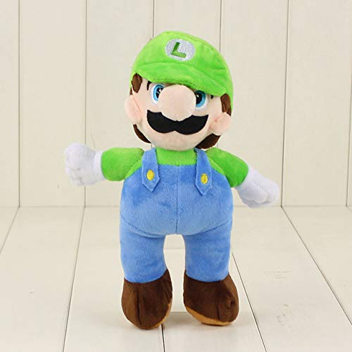 20cm 36cm 40cm Super Mario Bros knuffel Mario Luigi witte hoed Soft gevulde poppen cadeau voor kinderen, 20cm Luigi B