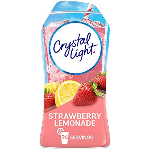 Crystal Light Liquid Strawberry Lemonade Naturally Flavored Drink Mix (12 ct Pack, 1.62 fl oz Bottles)