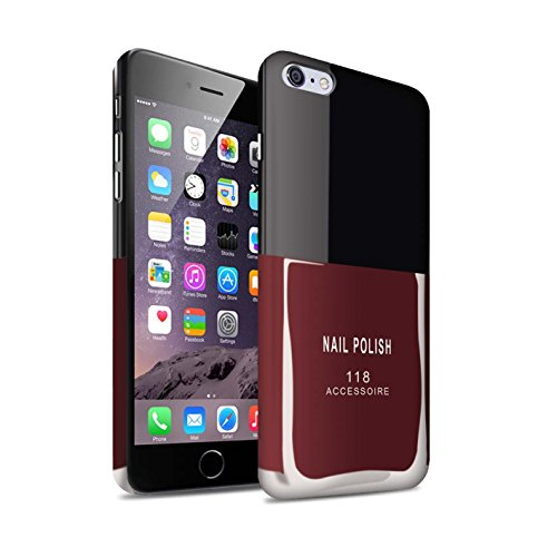Telefoon Matte Case voor Apple iPhone 6+/Plus 5.5 Nagellak/Make Up Rood Ontwerp Matt Harde Snap On Cover
