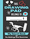 This Drawing Pad Belongs to ______! My Secret Book of Scribblings and Sketches: Cute Deinonychus Sketchbook | Deinonychus sketchbook for kids blank ... Gift for Birthday & Christmas & Thanksgiving